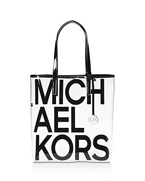 6ab6779e8eeec4 Michael Michael Kors The Michael Large North/South Logo Tote Bag In Jet  Black