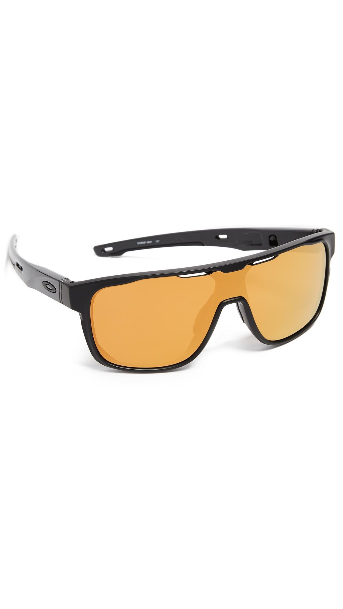a4bb7f6ee6 Oakley Crossrange Shield Sunglasses In Black 24K Iridium