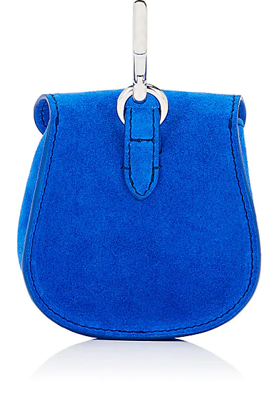 7278608c3a0 Mimosa Mini Leather Pouch Bag Charm - Blue Moon