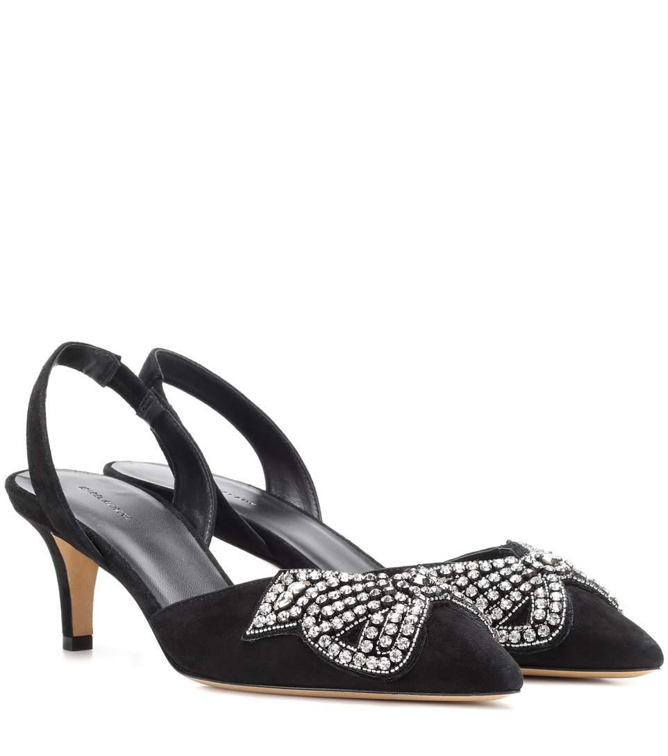 e27e6779c42 Isabel Marant Pagda Suede Slingback Pumps In Black