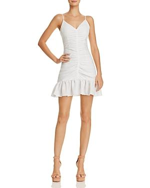 56d3d3e883b The East Order Celine Ruched Mini Dress In White