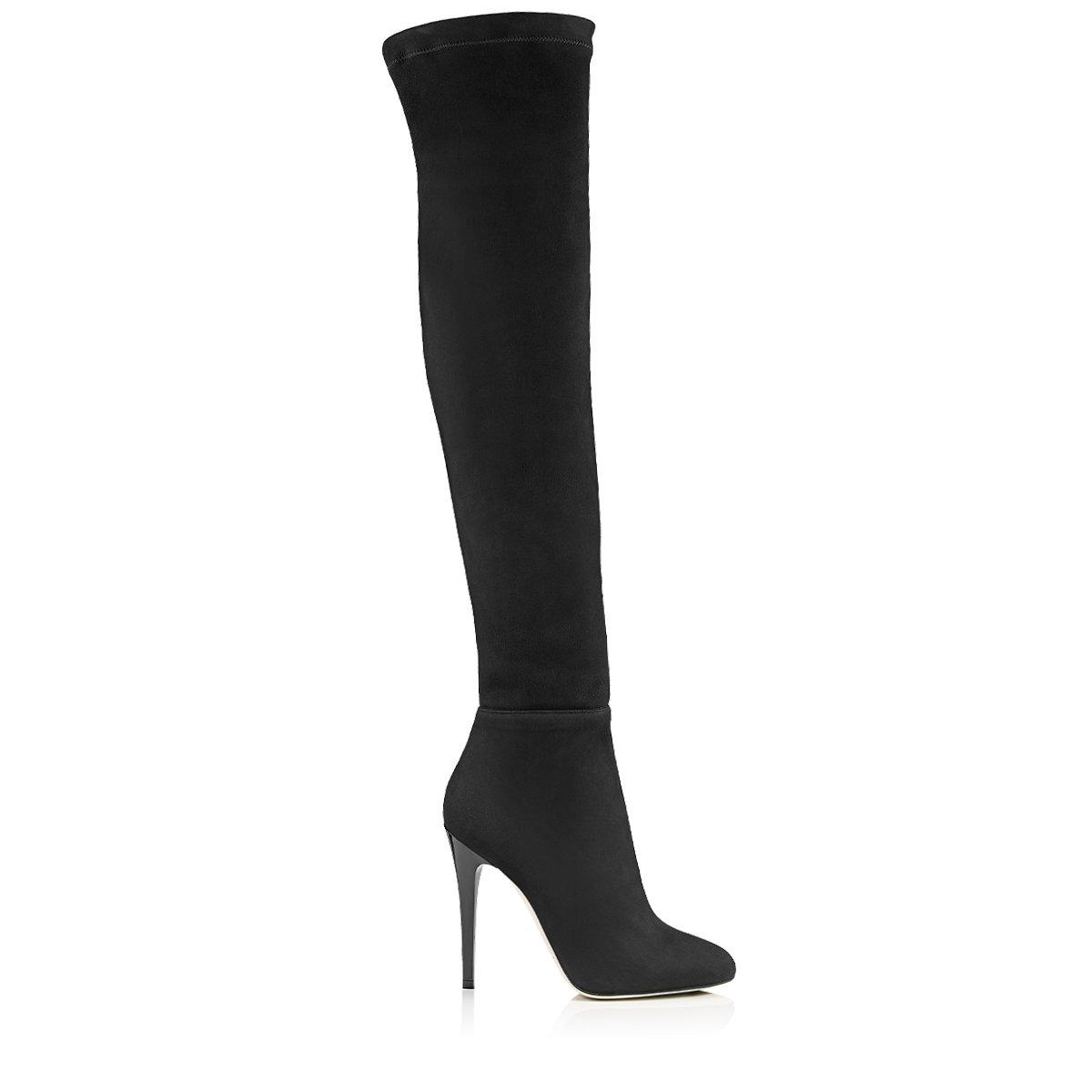 70691ea3475 Jimmy Choo Turner Black Suede And Stretch Suede Over The Knee Boots ...