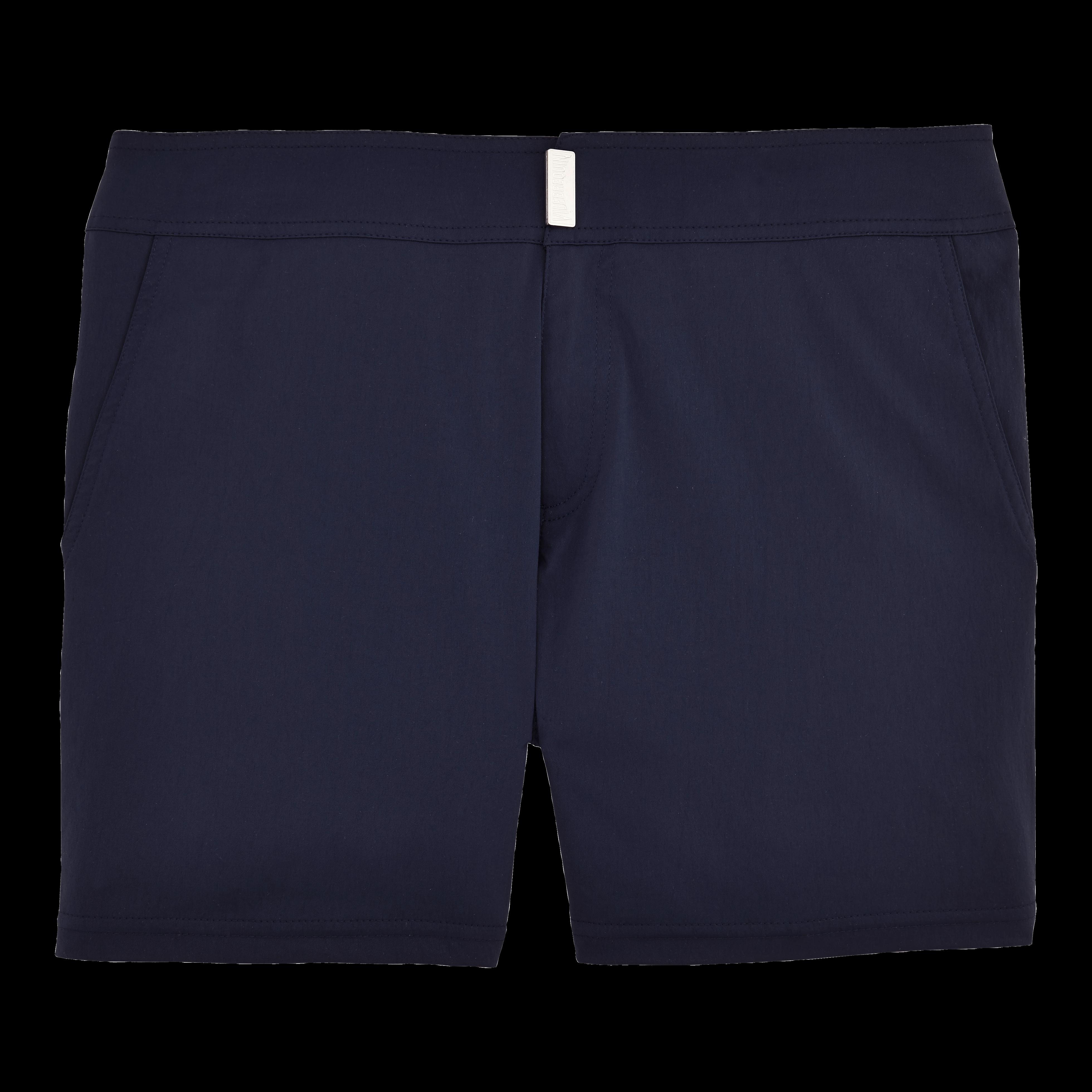 b8825410fd005 Vilebrequin Men Swimwear - Men Flat Belt Stretch Swimwear Solid - Swimwear  - Merise In Blue