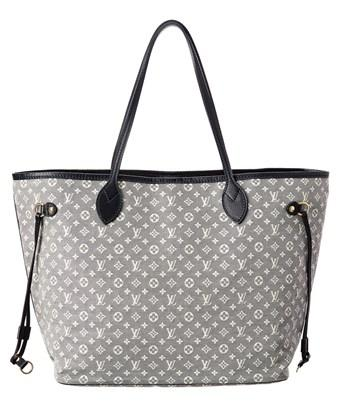 Louis Vuitton Navy Monogram Idylle Canvas Neverfull Mm In Nocolor Modesens
