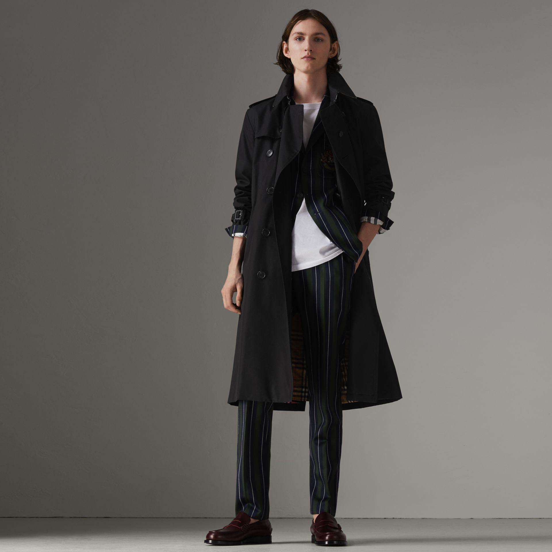f3c26ce40a6f Burberry The Long Kensington Heritage Trench Coat In Black