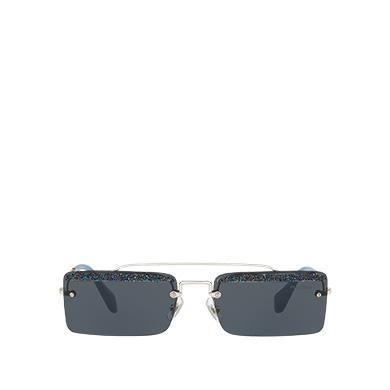 9f8d9eee82d0a Miu Miu SociéTé Sunglasses In Midnight Blue Lenses