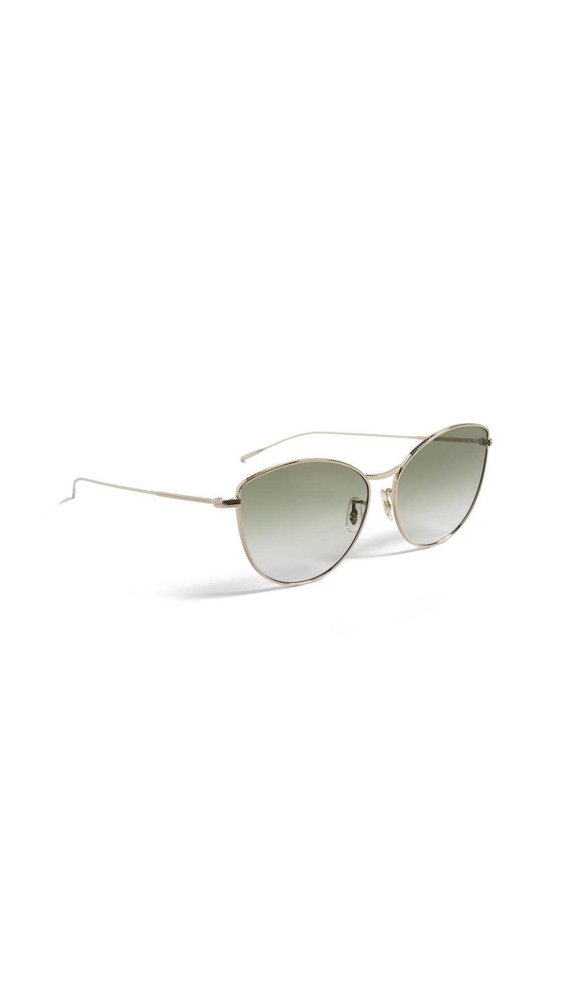 5ba404e1e4 Oliver Peoples Rayette Sunglasses In Soft Gold Olive Gradient