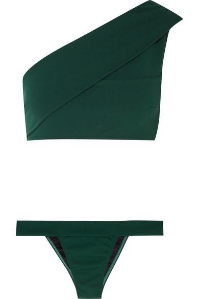 76b45b0bedc579 Haight Maria One-Shoulder Bikini In Green