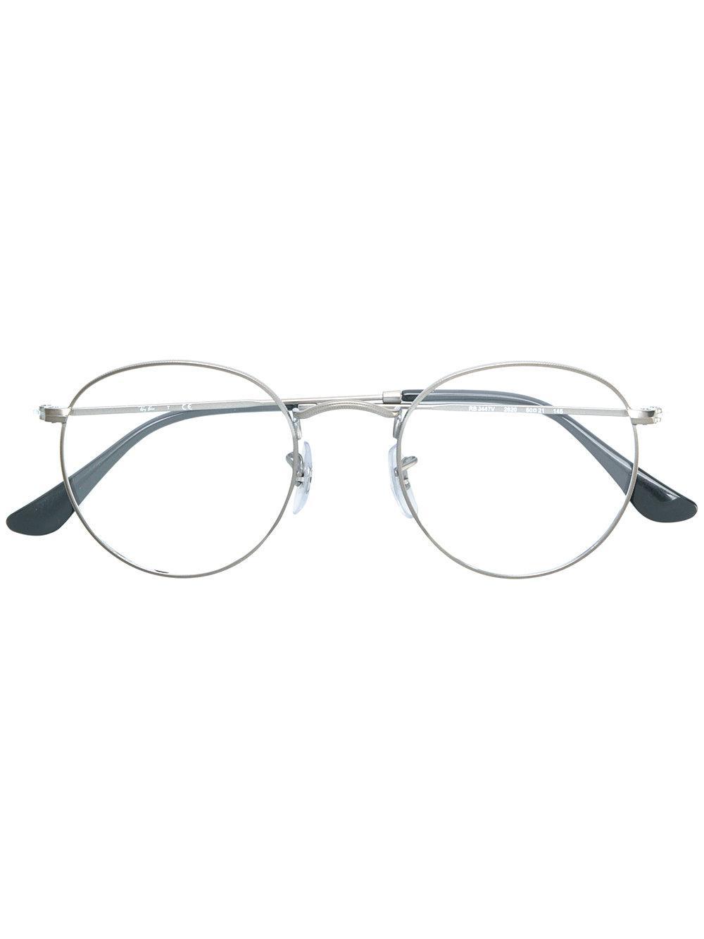 e1561280341f Ray Ban Ray-Ban Runde Brille - Schwarz In Black