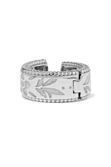 989edf6f1 Gucci Icon 18-Karat White Gold And Enamel Ear Cuff | ModeSens