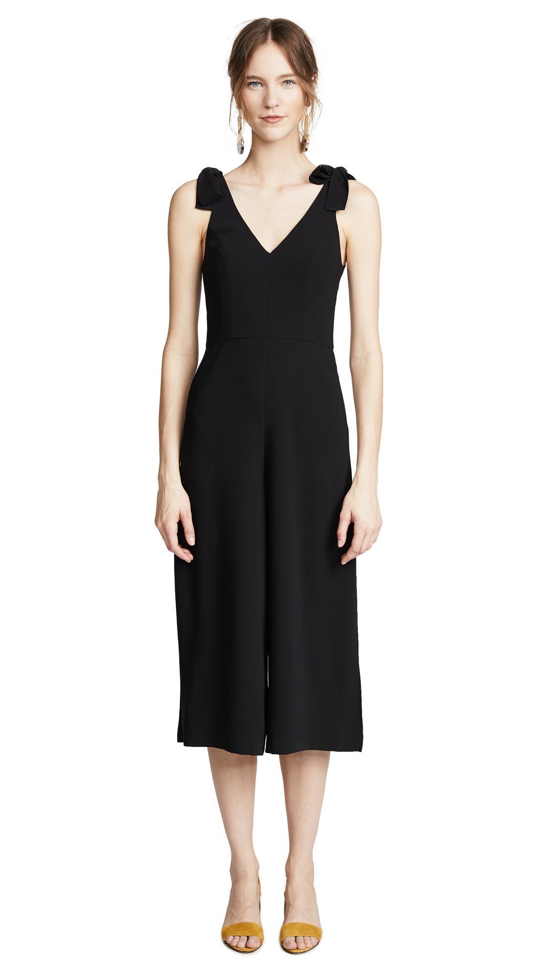 c265382174e0 Amanda Uprichard Iris Jumpsuit In Black