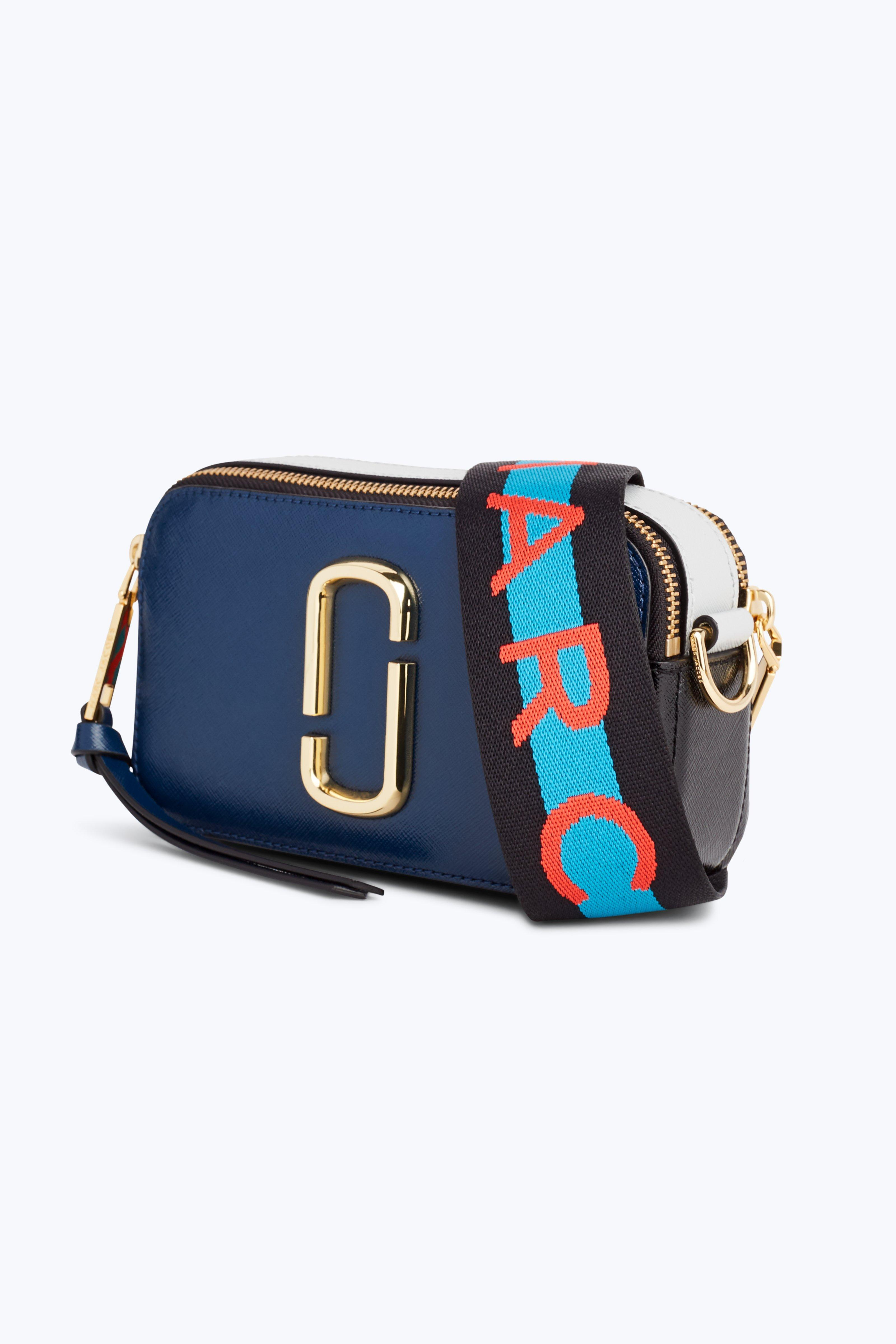 b9ebd2ead54b Marc Jacobs Logo Strap Snapshot Small Camera Bag In Sea Blue