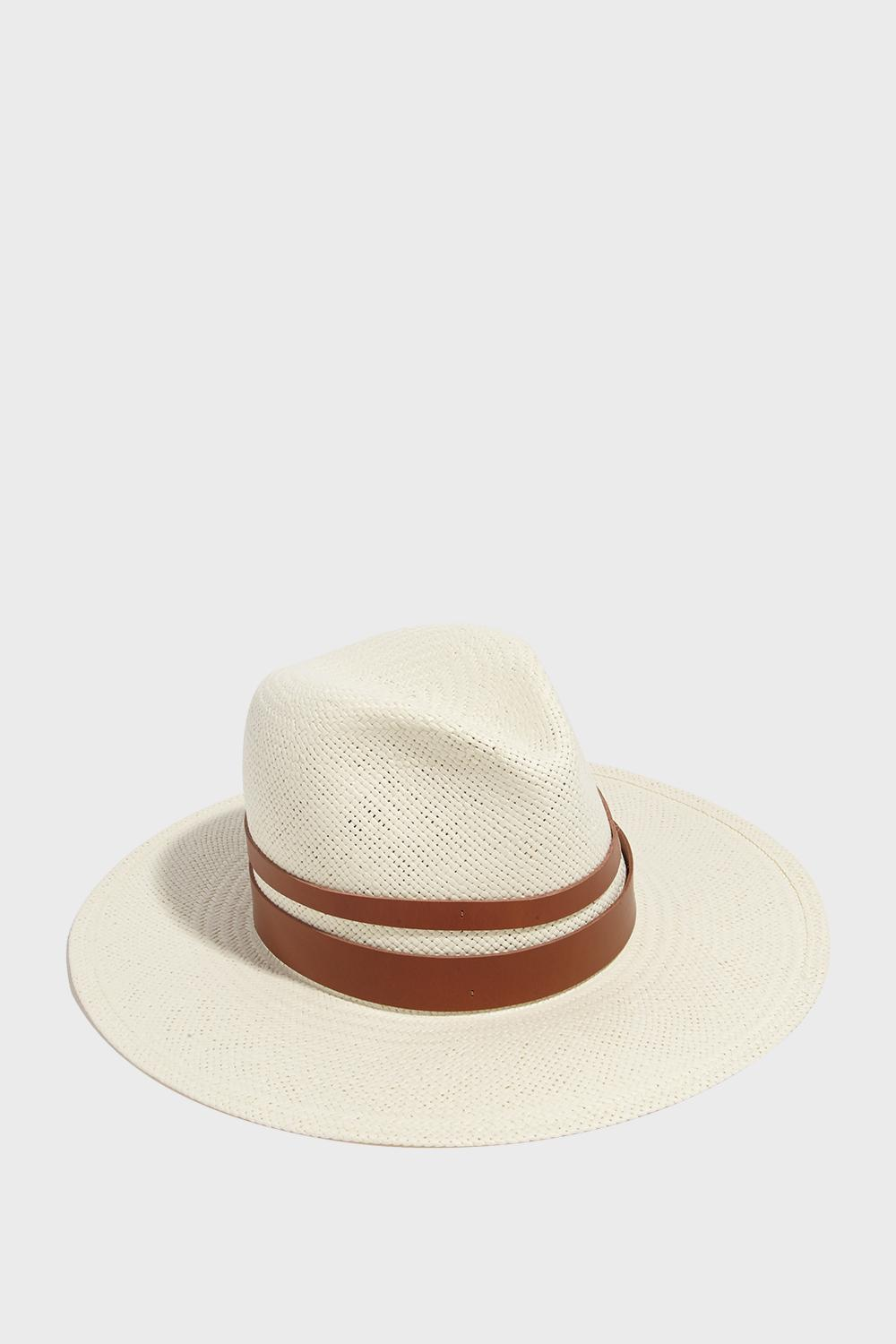 c6204f3f2 Michaela Fedora Hat in White