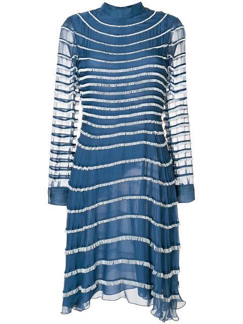 Valentino Fringed Dress - Blue