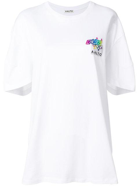 Aalto Oversized Logo T-Shirt In White