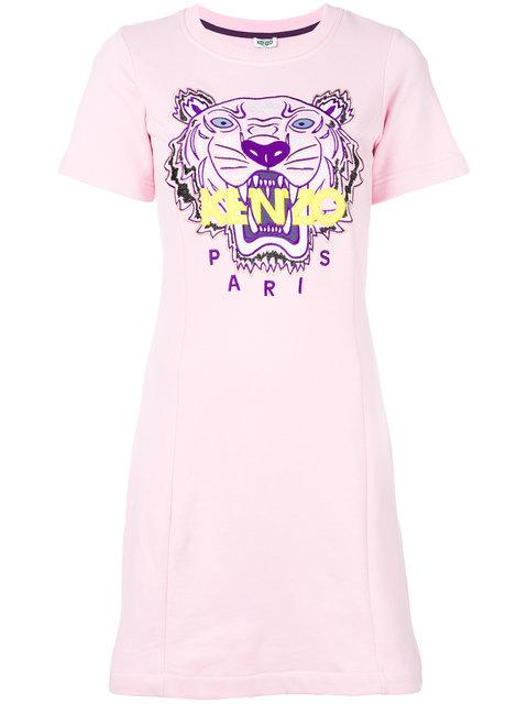 a2cec8e0c5 Kenzo Tiger Sweatshirt Dress - Pink | ModeSens