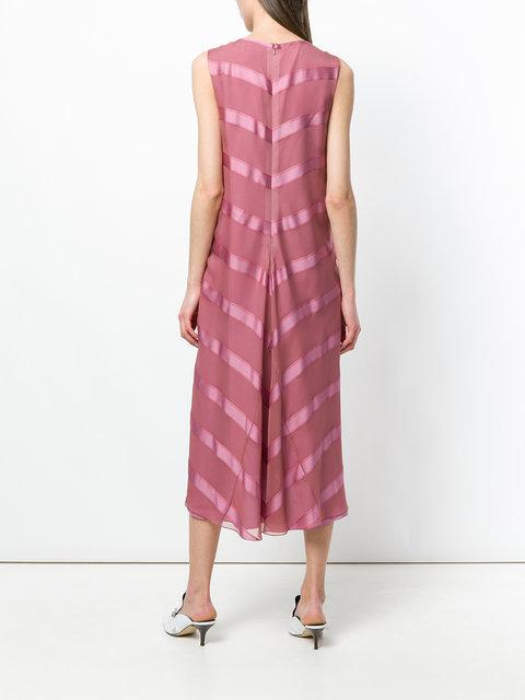 31d6ba505a SIES MARJAN. Sies Marjan Satin Stripe Sleeveless Midi Dress ...