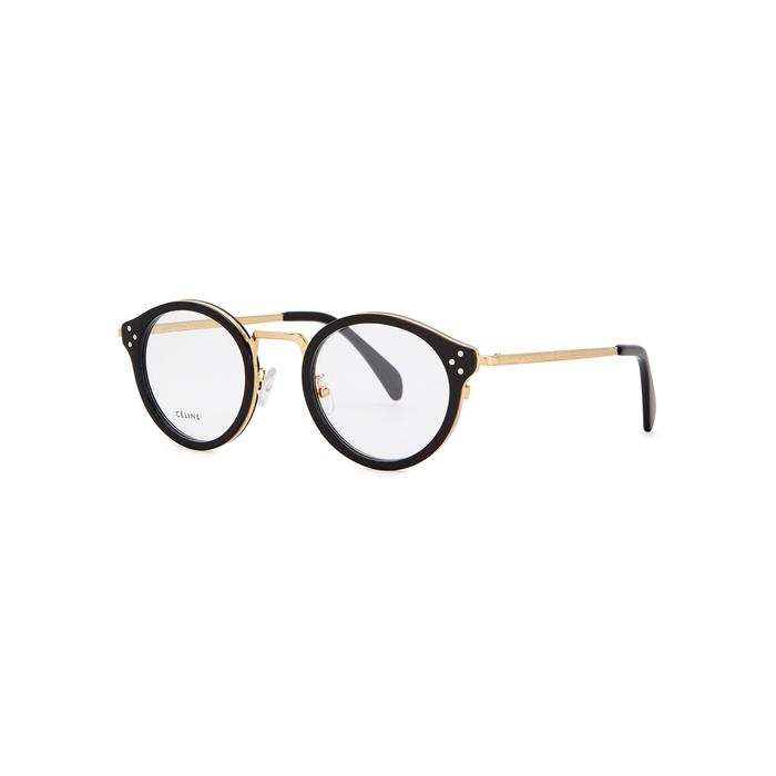 c1ab9e8a7f Celine Black Round-Frame Optical Glasses