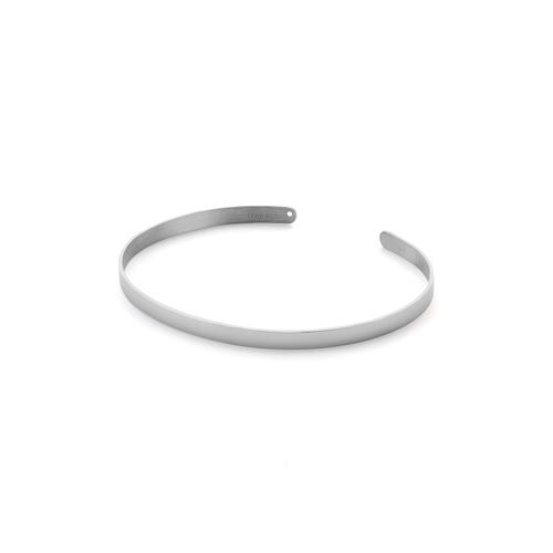 Ekria Timeless Duo Palm Cuff Shiny White Gold