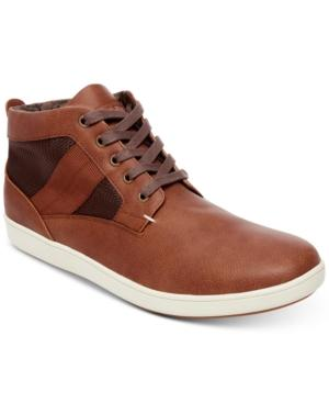 f828c526de8 Steve Madden Men s Frazier High-Top Sneakers Men s Shoes In Cognac ...