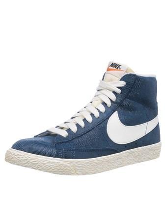 Puro Subtropical recuperar  Nike Blazer Mid Suede Vintage High Top Sneakers In Blue   ModeSens