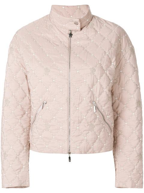 225ffcce5092 Moncler Gamme Rouge Moncler Gesteppte Cropped-Jacke - Rosa In Pink ...