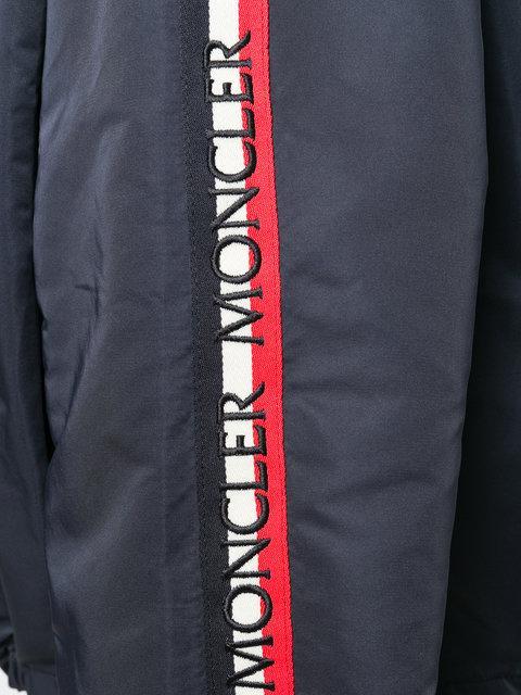 83b269d83 Zirconite Logo-Sleeve Cropped Jacket in Blue