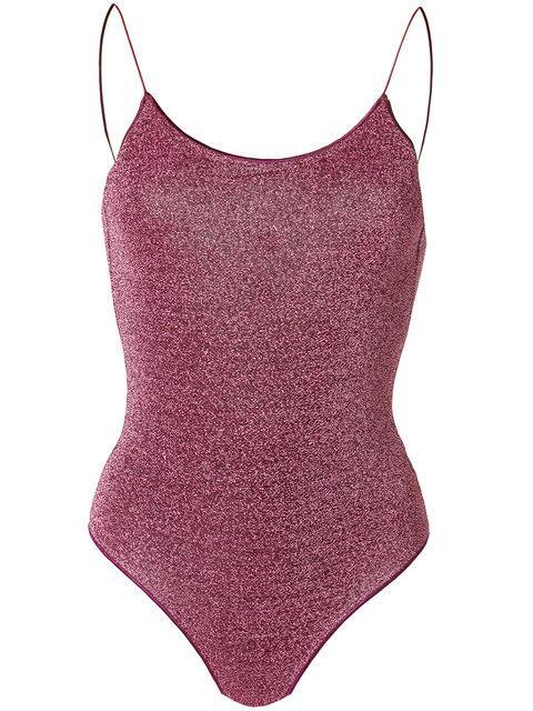 3b482d1da1926 Oseree Metallic Thread Swimsuit - Pink | ModeSens