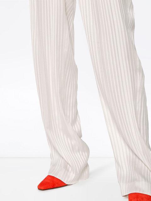Stella Mccartney Ivory Wide-Leg Wool Trousers In White