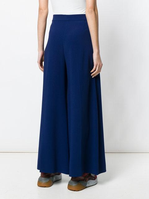 STELLA MCCARTNEY STELLA MCCARTNEY HIGH WAISTED PALAZZO TROUSERS - BLUE,410763SCA0612731122