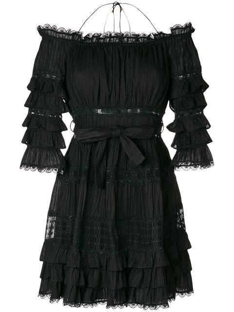 c0c5d5f8cf69 Zimmermann Corsair Off-The-Shoulder Ruffled Cotton Dress In Black ...