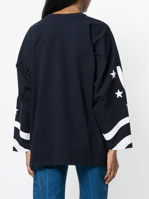 Stella Mccartney All Is Love Oversized Blu Cotton Sweatshirt In Blue