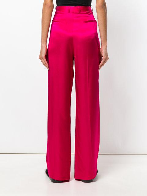 Givenchy Satin Wide-Leg Pants In Pink