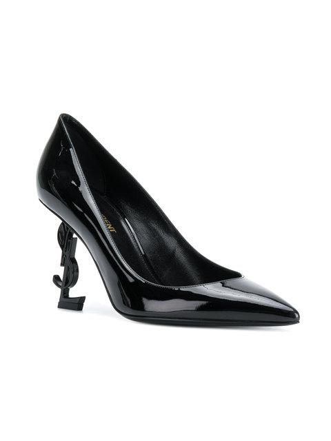 Saint Laurent Opyum Pumps In Patent Leather With Black Heel