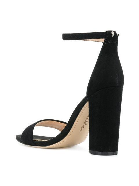 8b9b94b1a16f95 Sam Edelman Yaro Ankle Strap Block Heel Sandals In Black