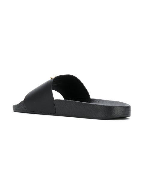 5c7394bcb3767 Giuseppe Zanotti Birel Vague Pool Sandals In Black | ModeSens