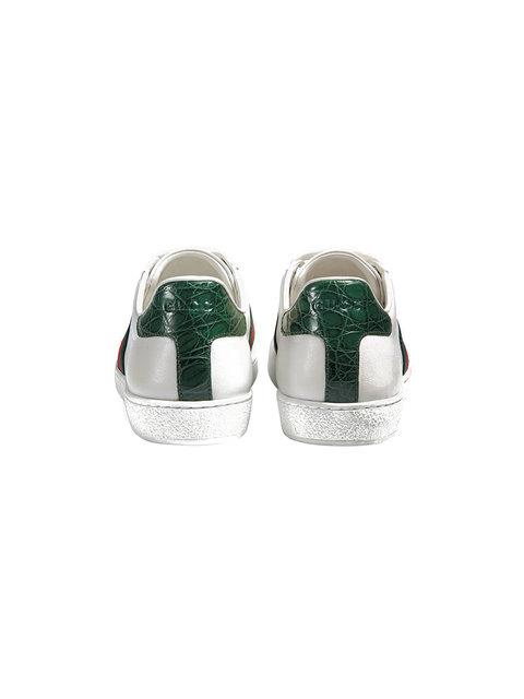 GUCCI WHITE ACE LEATHER SNEAKERS,387993A383012562762