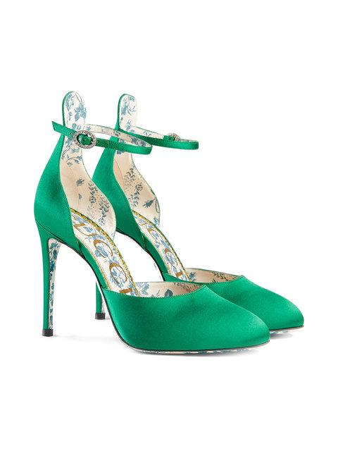 Gucci Green Daisy Pump 105 In 3120 Verde