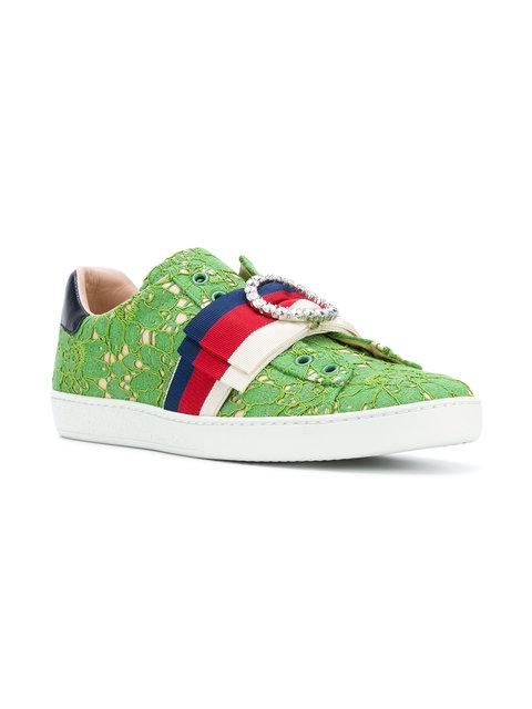 Gucci Ace Lace Sneaker In 3876