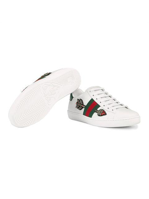 GUCCI ACE' SNEAKERS MIT STICKEREI,454551A38G012562721