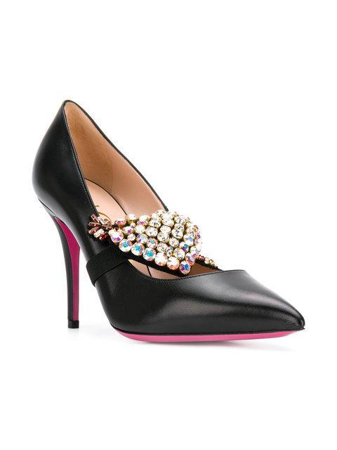 Gucci Embellished Pumps - Black