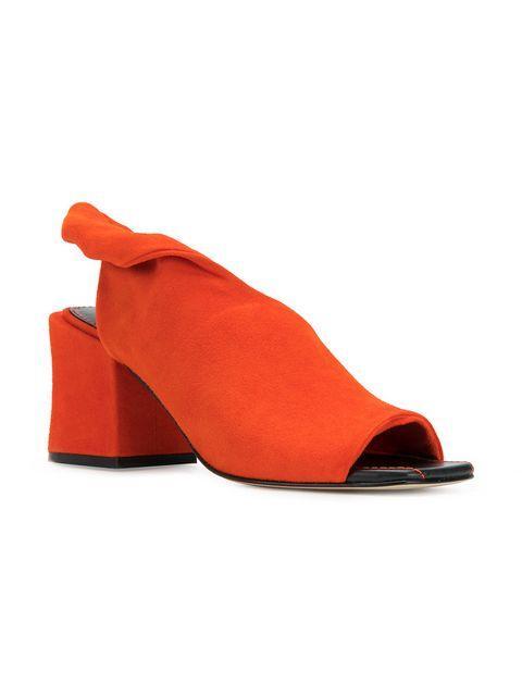 70afebe1b03 Sigerson Morrison Lenny Block Heel Pumps In Orange