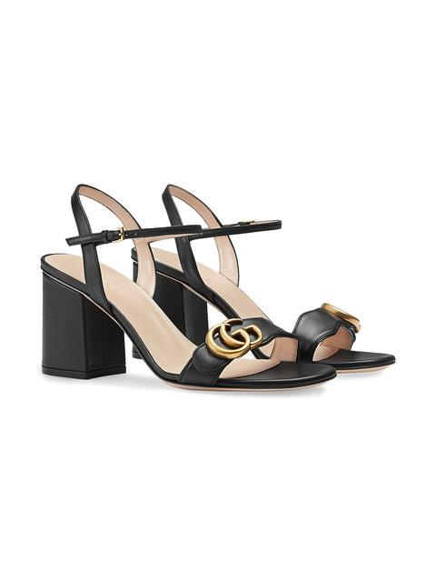 GUCCI LEATHER MID-HEEL SANDAL,453379A3N0012562723