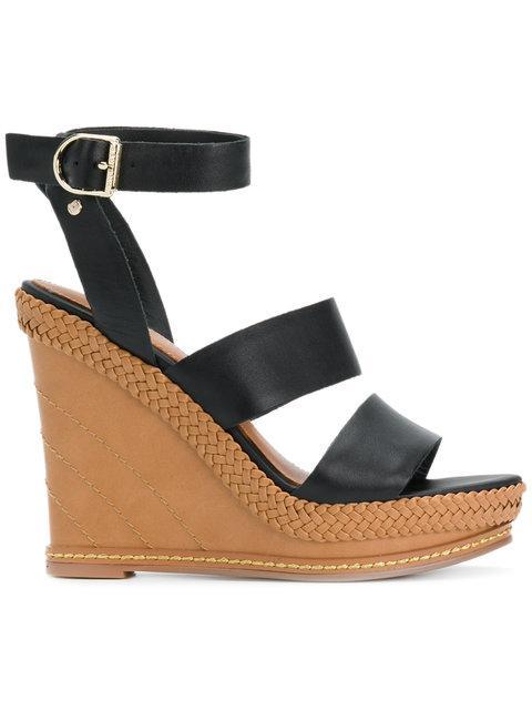8efb89ee1 Tommy Hilfiger Strappy Wedge Sandals - Black