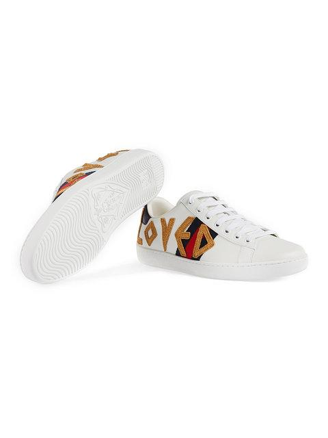 GUCCI 'ACE' SNEAKERS MIT STICKEREI,505328DOPE012562539