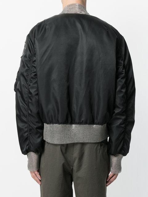Ktz Chainmail Detail Bomber Jacket - Black