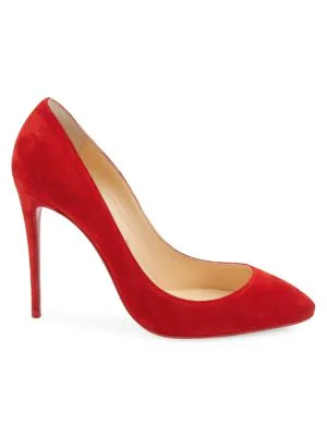 official shop new product beauty Eloise 100Mm Suede Red Sole Pump in Loubi
