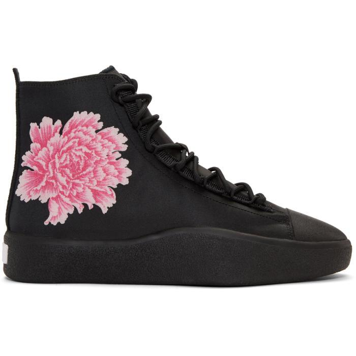 12a8b355d5817 Y-3 X James Harden Floral-Jacquard Trainers In Black
