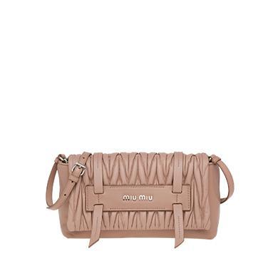 b60d9ca00a Miu Miu MatelassÉ Leather Shoulder Bag In Cameo Beige