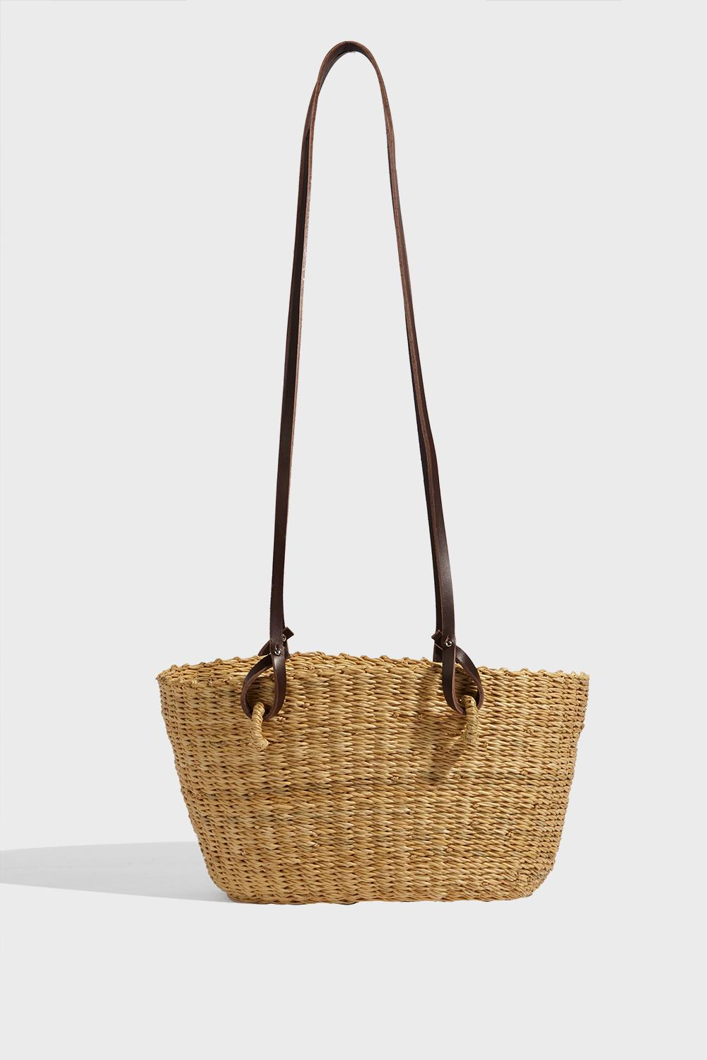 bf0bdfd30de53 Muun Hamptons Hand-Woven Straw Bag In Beige